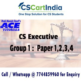 CS Executive Online Classes Group 1 by Ace Tutorials