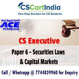 Ace Tutorials CS Executive Securities Laws Video Lectures