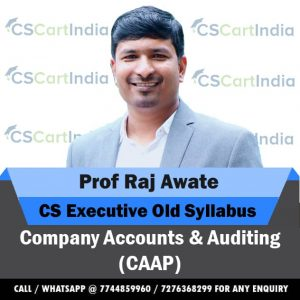 Prof Raj Awate CS Executive Company Accounts & Auditing Video Lectures