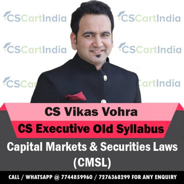 CS Vikas Vohra CS Executive CMSL Video Lectures