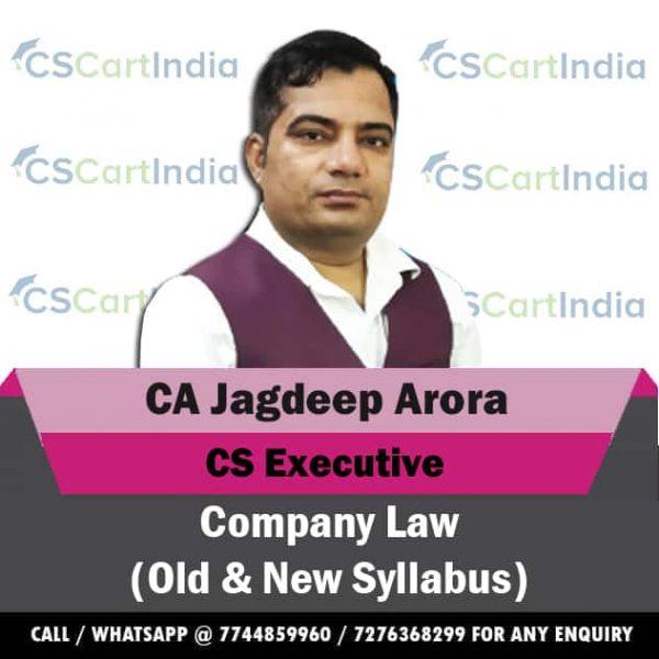 CA Jagdeep Arora CS Executive Company Law Video Lectures