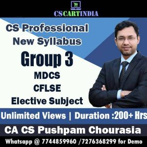 CS Professional New Syllabus Group 3 Video Lectures Combo