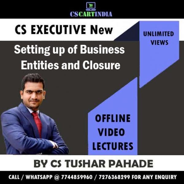 CS Tushar Pahade CS Executive SBEC Video Lectures
