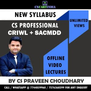 CS Professional New Syllabus Group 2 Video Lectures Combo