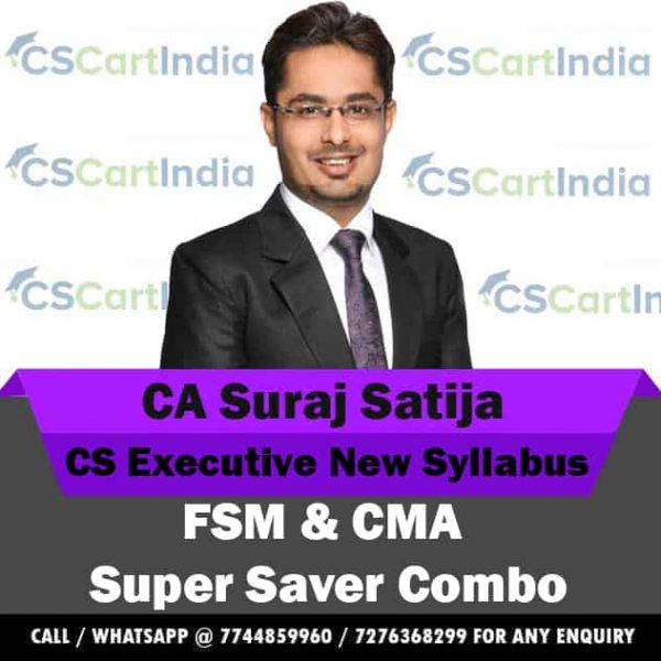 CS Executive FSM & CMA Video Lectures Combo