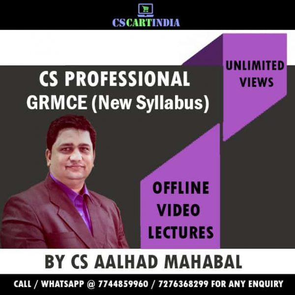 CS Aalhad Mahabal CS Professional GRMCE Video Lectures