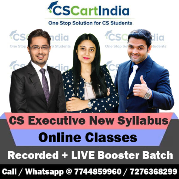 CS Executive New Syllabus Recorded + LIVE BOOSTER Batch